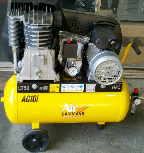 Compressor Air Command new AC16i 3hp single phase belt drive slow running 15.7cfm 50litre tank