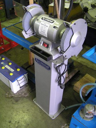 Bench grinder, Linishall, 200mm, 1 phase 1 hp New