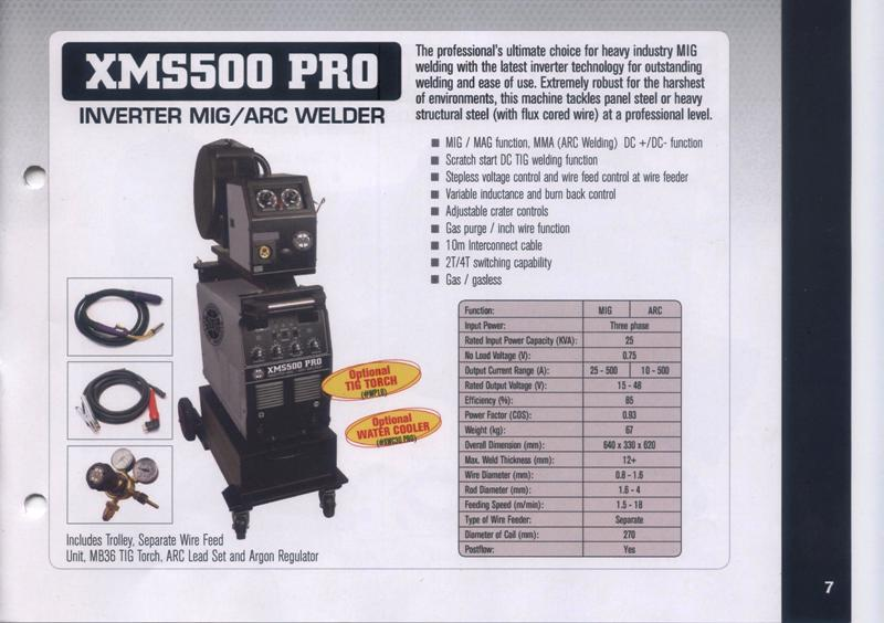 Mig welder new Strata XMS500 PRO three phase remote wire feeder mig/arc, optional tig, optional water cooler