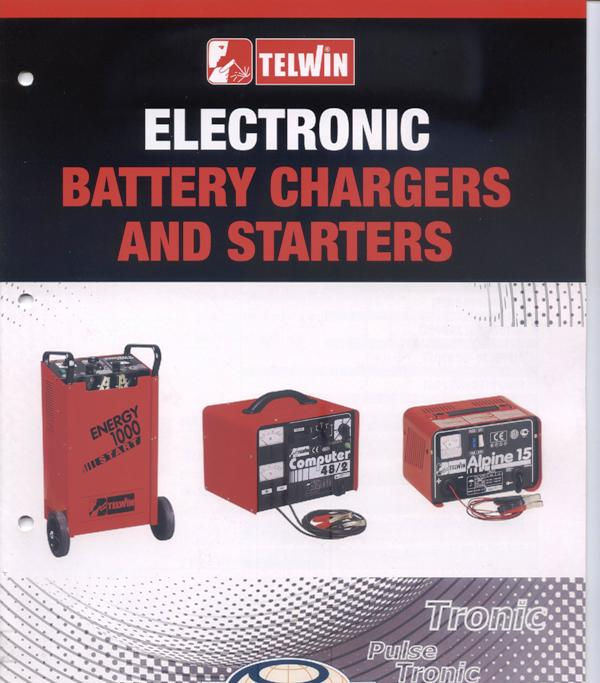 Battery chargers new full range for wet/gell batteries, Telwin