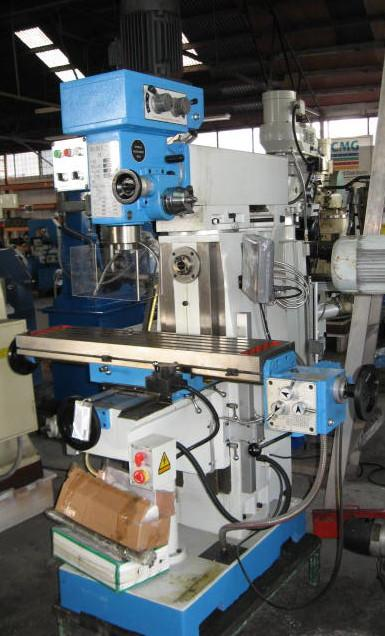 Milling machine, XZX7550CW Geared head with 3 Axis DRO