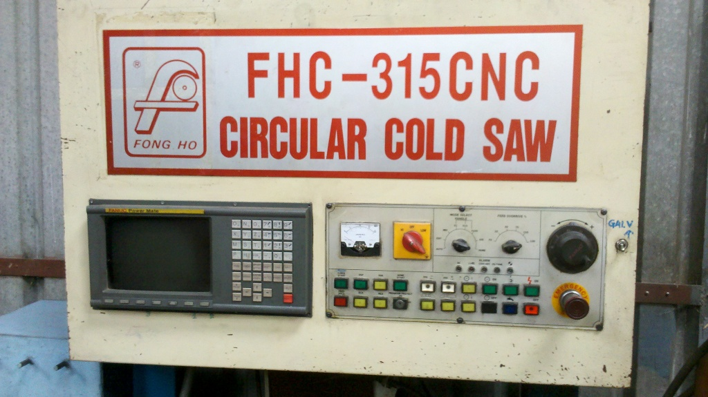 Cold cut saw Fong Ho, Fanuc CNC controlled with powered vice