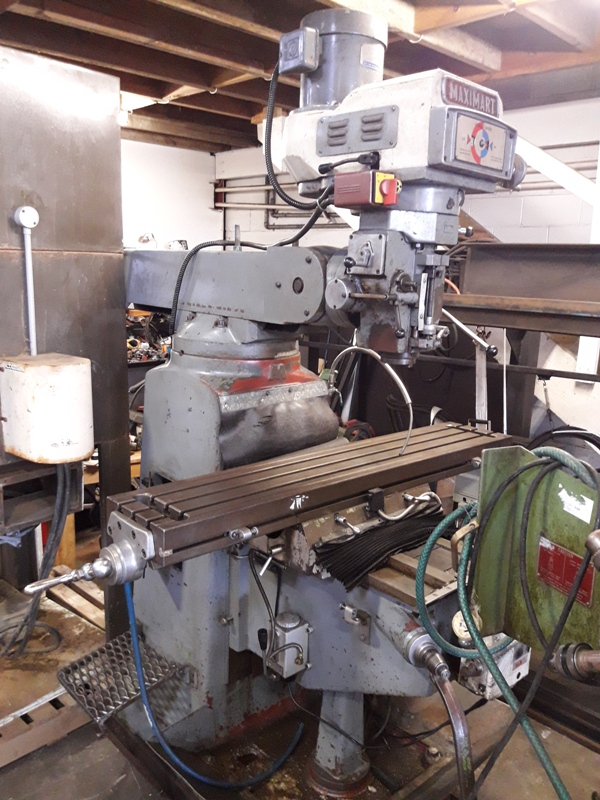 Turret mill Maximart NT40 spindle, 1 axis power feed