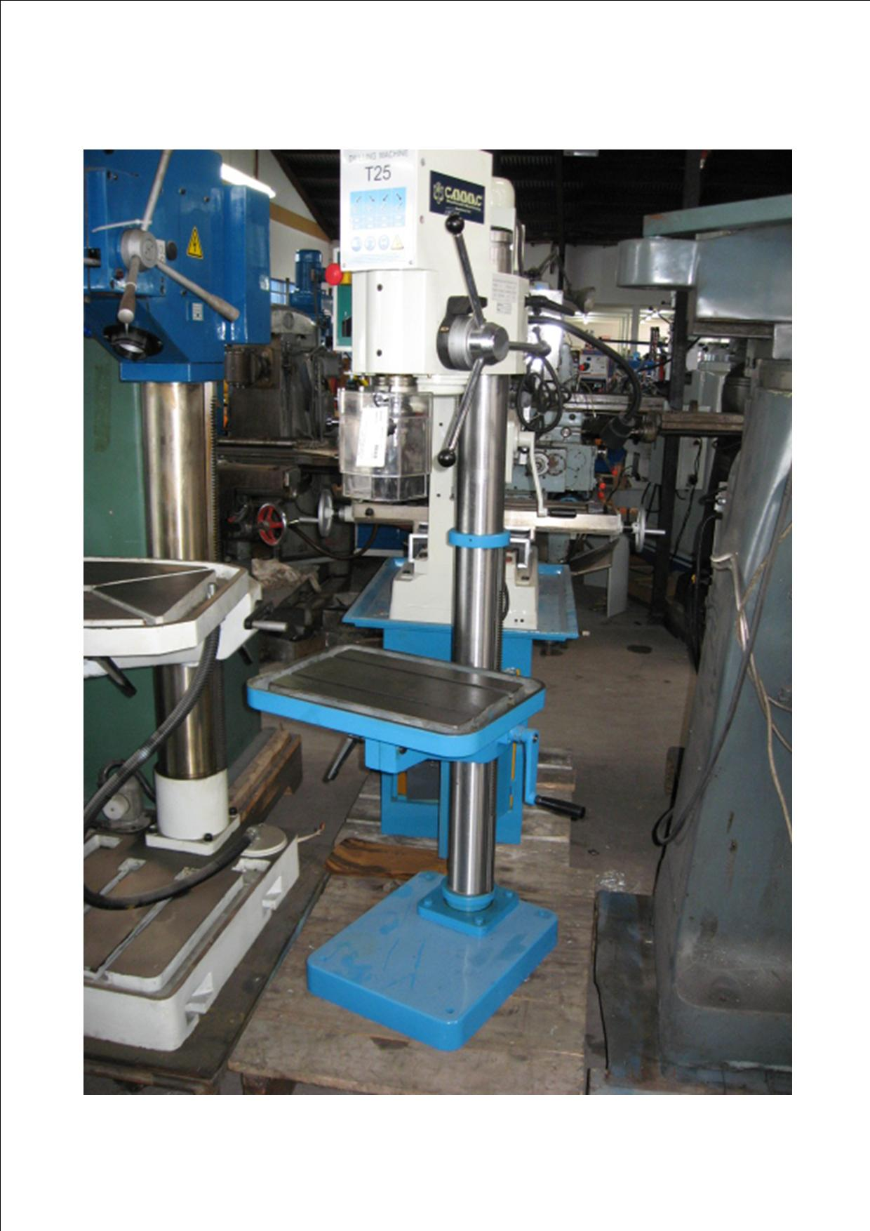 T25 geared head 3 phase drill press, MT3