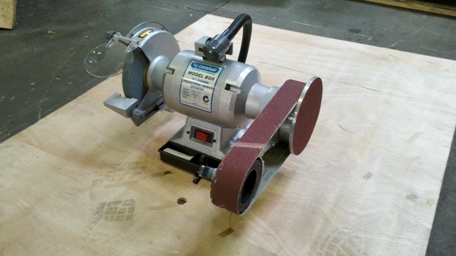 Bench grinder, Linishall, with linishing attachment 200mm, 1 phase 1 hp New