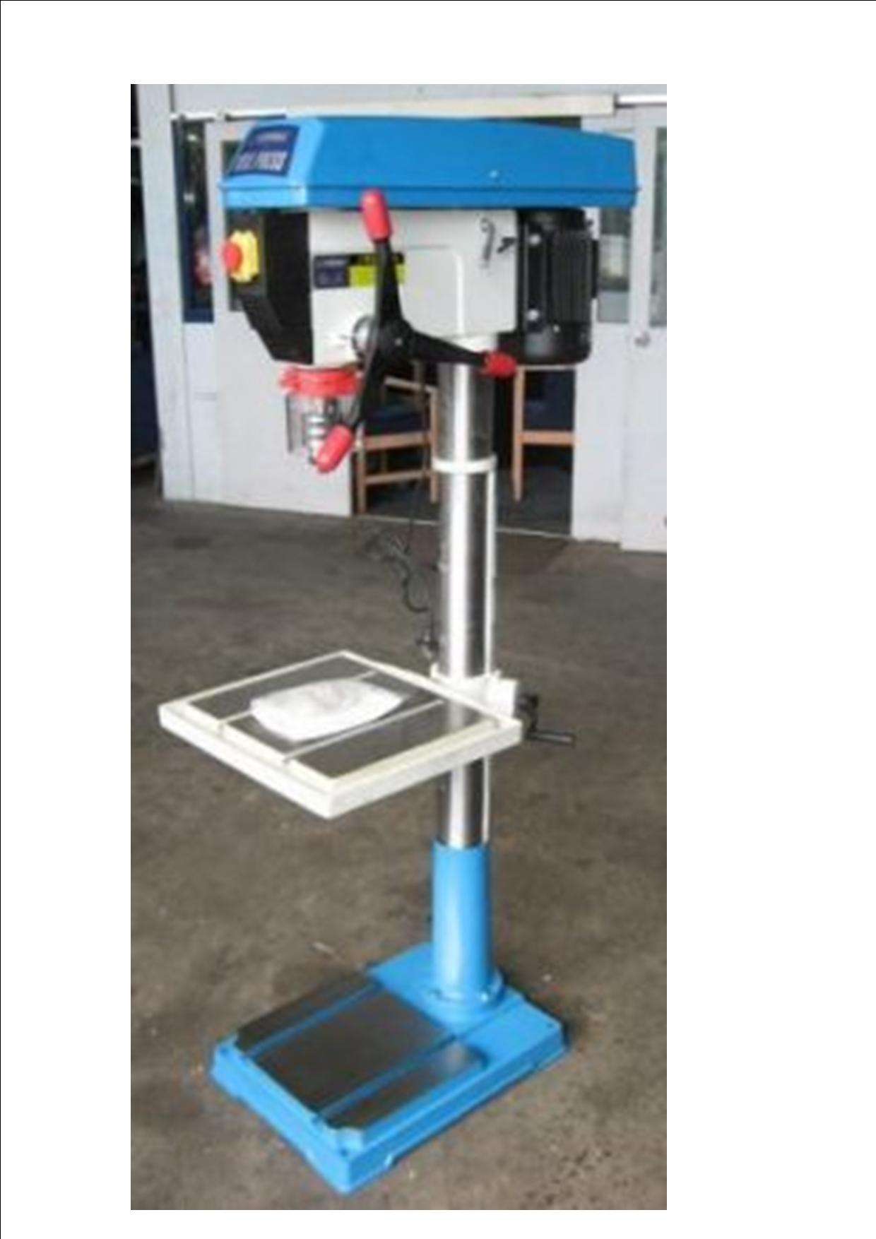 Drillpress WD32 New, single phase 1.5hp pedestal mount, MT4 keless chuck
